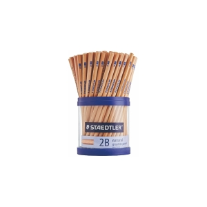 STAEDTLER NATURAL 2B GRAPHITE PENCILS + BONUS CUP - CUP OF 100