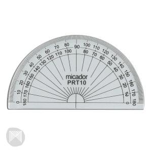 MICADOR PLASTIC PROTRACTOR 10CM CLEAR - EACH