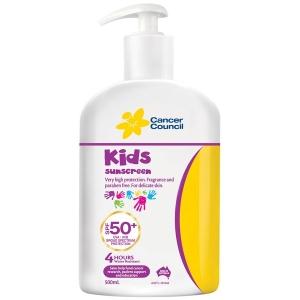 CANCER COUNCIL SPF50+ KIDS SUNSCREEN 500ML PUMP BOTTLE - EACH
