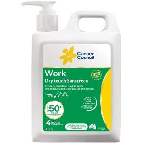 CANCER COUNCIL SPF50+ WORK SUNSCREEN 1L PUMP BOTTLE - EACH