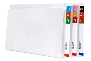 AVERY WHITE SHELF LATERAL FILE WITH TUBECLIP, EXTRA H/WEIGHT, 100 FILES