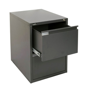 RAPIDLINE RFCA 2 DRAW FILING CABINET 675 X 464 X 620 GRAPHITE - EACH