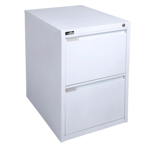 RAPIDLINE RFCA 2 DRAW FILING CABINET 675 X 464 X 620 WHITE - EACH