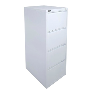 RAPID RFCA 4 DRAW FILING CABINET 1290 X 464 X 620 WHITE  - EACH