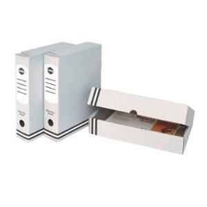 MARBIG - BOX FILE CARDBOARD FOOLSCAP 80MM GREY - EACH