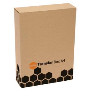 MARBIG TRANSFER BOX A4 BROWN - EACH