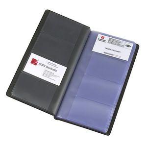 MARBIG BUSINESS CARD HOLDER 208-CARD CAPACITY BLACK - EACH