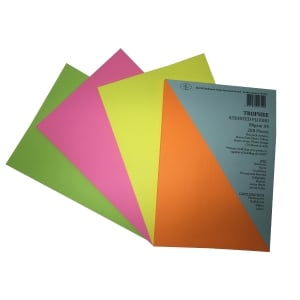 TROPHEE FLUORO 80GSM A4 ASSORTED COLOURS - PACK OF 200