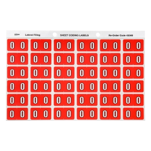 AVERY 0 SIDE TAB COLOUR CODING LABELS FOR LATERAL FILING, PINK, 180 LABELS