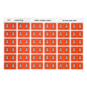 AVERY A SIDE TAB COLOUR CODING LABELS FOR LATERAL FILING, PINK, 180 LABELS
