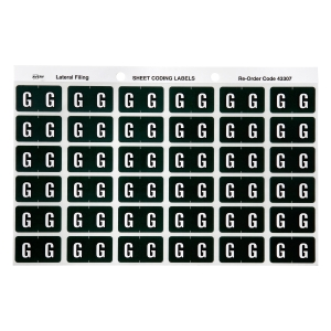 AVERY G SIDE TAB COLOUR CODING LABELS FOR LATERAL FILING, D/GREEN, 180 LABELS