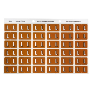 AVERY L SIDE TAB COLOUR CODING LABELS FOR LATERAL FILING, MUSTARD, 180 LABELS