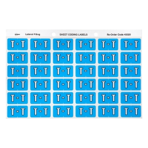 AVERY T SIDE TAB COLOUR CODING LABELS FOR LATERAL FILING, BLUE, 180 LABELS