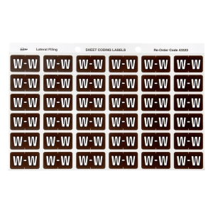 AVERY W SIDE TAB COLOUR CODING LABELS FOR LATERAL FILING, BROWN, 180 LABELS