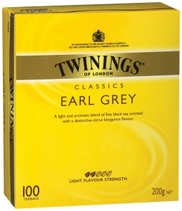 TWININGS EARL GREY TEA BAGS STRING & TAG - BOX OF 100