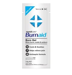 FIRST AIDERS CHOICE BURNAID BURN GEL 3.5G SACHET - PACK OF 10