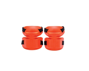 FRONTIER  TRADESMAN KNEE PAD DUAL STRAPS ORANGE - PAIR