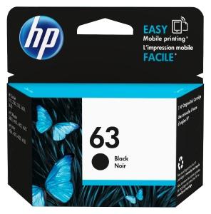 HP 63 F6U62AA INKJET CARTRIDGE BLACK - EACH