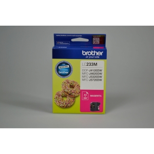 BROTHER LC-233M INK CARTRIDGE MAGENTA - EACH