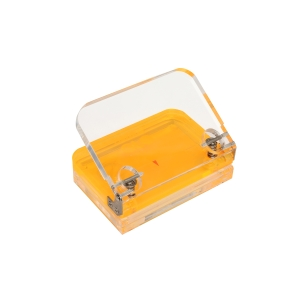 COLOURHIDE GLO MY GLOWING ACRYLIC HOLE PUNCH ORANGE - EACH