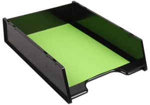 GREENR MULTI FIT RECYCLED DOCUMENT TRAY BLACK - EACH