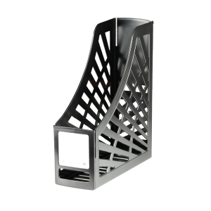 GREENR RECYCLED MAGAZINE STAND BLACK - EACH