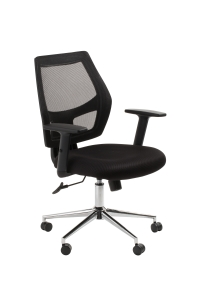 ACE METRO MESH SEAT AND BACK CHAIR BLACK - EACH