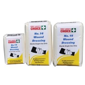 FIRST AIDERS CHOICE NO.14 WOUND DRESSING - EACH
