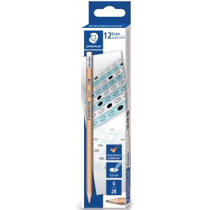 STAEDTLER NATURAL EXAM PENCIL 2B - BOX OF 12