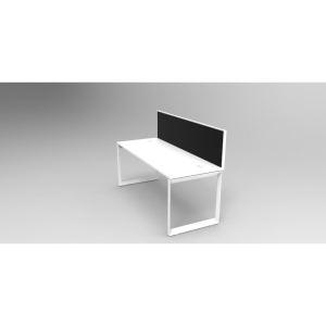RAPID INFINITY 1 PERSON WORKSTATION SINGLESIDE WITH SCREENS & LOOPLEG 1200X700MM