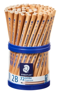 STAEDTLER NATURAL JUMBO 2B PENCILS - CUP OF 72