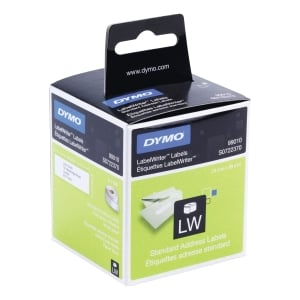 DYMO LABELWRITER CONSUMABLES STANDARD ADDRESS LABEL 28X89MM WHITE - BOX OF 260