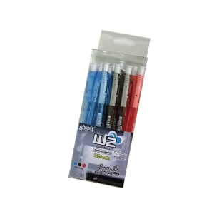 G soft W2 Retractable Ballpoint Pen 0.5mm Mix of Colours - Pack of 15