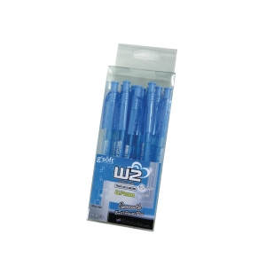 G soft W2 Retractable Ballpoint Pen 0.7mm Blue  - Pack of 15