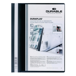 DURABLE DURAPLUS BLACK A4 FOLDER - 80 SHEETS CAPACITY