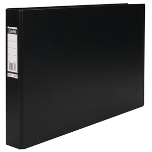BANTEX BLACK A3 4D RING BINDER 30MM OBLONG