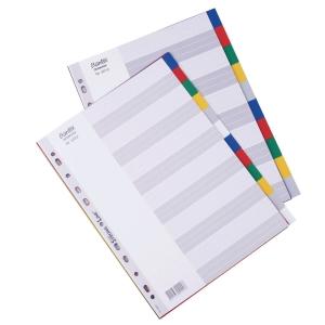 Bantex A4 PP Color Dividers 10 Tabs