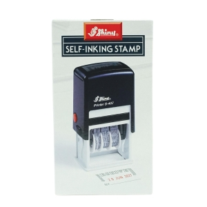 Shiny S-402 RECEIVED Self-Inking Dater Stamp 2-Colour
