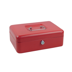 EAGLE MEDIUM RED SECURE CASH BOX 250 X 180 X 90MM
