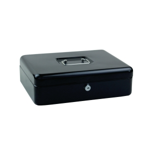 EAGLE LARGE BLACK SECURE CASH BOX BLACK 300 X 200 X 90MM