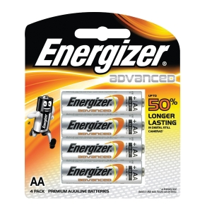 Energizer E2 AA Advanced Batteries - Pack of 4