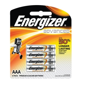 ENERGIZER E2 AAA ALKALINE BATTERIES - PACK OF 4