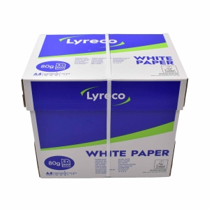 Lyreco A4 White Paper 80gsm - Box of 5 Reams.