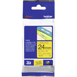 Brother TZe-651 Tape 24mm x 8m Black on Yellow
