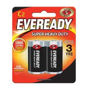 EVEREADY SUPER HEAVY DUTY BATTERY C - PACK OF 2