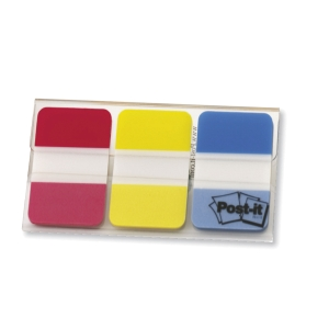 3M POST IT STRONG NEON RED, YELLOW AND BLUE INDEX - PACK OF 66