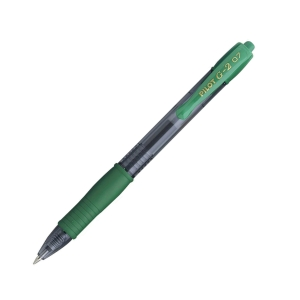 PILOT G2 RETRACTABLE GEL INK GREEN PEN 0.7MM LINE WIDTH