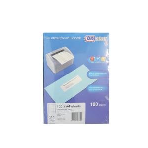 Unistat U4677 Label 63.5 x 38.1mm - Box of 2100 Labels