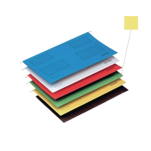 BANTEX YELLOW A4 SUSPENSION FILE - PACK OF 25