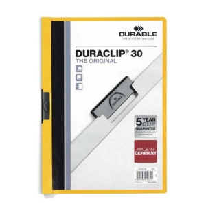 Durable 2200 Duraclip Folder A4 Yellow
